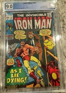 IRON MAN #37 PGX 9.0!! NEW CASE!! NOT CGC Huge Auction going on!!