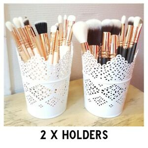 Make Up Brush Holder Storage Candle Pencils Pens x 2 - FREE Delivery