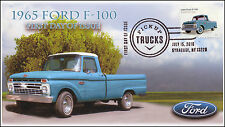 2016, Pickup Trucks, 1965 Ford F-100, FDC, B/W Pictorial, Syracuse NY, 16-142