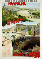 Grotte de Han 1895 Vintage Belgium Railways Travel Poster Canvas Print 14X20