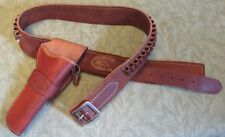 El Paso Saddlery Leather Holster and Cartridge Belt Colt SAA Nice NR