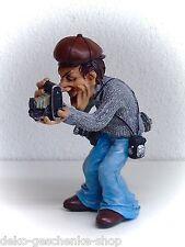 Trabajo Divertido Cómic Figura decorativa Polyfigur Cámara Fotógrafo con