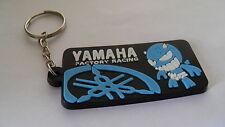 Portachiavi Yamaha R1 R6 TMAX YZF X-CITY FZ1 FAZER nuovo (nero logo azzurro)