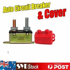 1pc 12V 50A Auto Circuit Breakers & Red Cover Automotive Marine Automatic Reset