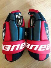 "Bauer Hg300 15"" Ice Hockey Gloves Red/Black"