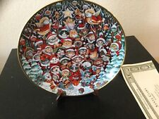 """Franklin Mint Collector Plate """"Santa Claws"""" By Bill Bell Limited Edition-Coa"""