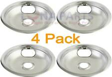 """4 Pack Bosch Thermador Range Cooktop 8"""" Chrome Drip 486106 485519 142791"""