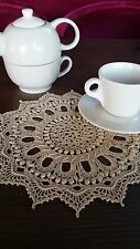 Crochet Round Doily Handmade IVORY diametr 26cm  Patricia Kristoffersen
