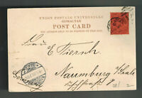 1903 Gibraltar Picture postcard cover to Nuremburg Germany Rock View