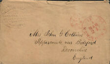 Transatlantic Ship Stampless Cover 1860 NY To Devonshire England, Embossed
