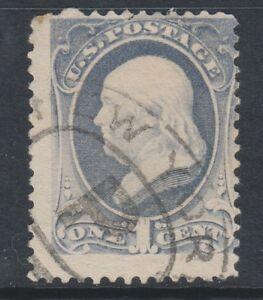 USA - 1870/1, 1c Greyish Blue stamp - G/U - SG 147b