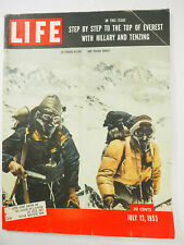 Life Magazine July 13,1953 - step by step to the top of Everest