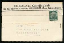 182412) dt. Bes. Elsass 2.WK Blg. mit Stpl. Bischheim