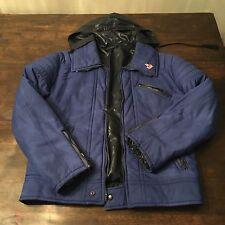 Mossant Paris Jacket Men's Sz 50 In Blue With Hood