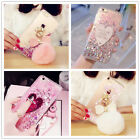 For iPhone 7 Plus 6s Plus Dynamic Heart Glitter Liquid Bling Clear Case Cover