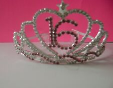 Sweet Sixteen 16  Birthday Rhinestone  Tiara Crown Comb Headpiece