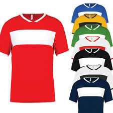 ProAct 2er-Pack Hombre Manga Corta de Mujer Camiseta Manga Corta Fútbol Rayas