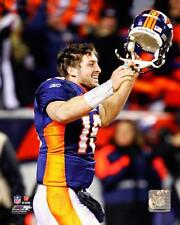 """TIM TEBOW """"2011 Playoff WIN over Steelers """" Denver Broncos LICENSED 8x10 photo"""