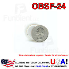 Sanwa OBSF-24 - WHITE Momentary  Push Button JAMMA guitar killswitch 24mm MAME