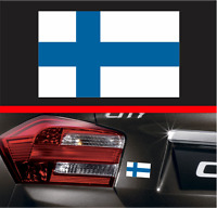"4"" Finnish Flag Vinyl Decal Bumper Sticker Finland FIN FI Euro Macbook Car Decal"