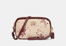COACH Sadie 67087 with Print Beechwood Floral Coated Canvas Crossbody Bag