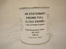 1 x 500ml Lister Deep Brunswick Green. Stationary Engine Full Gloss Enamel Paint