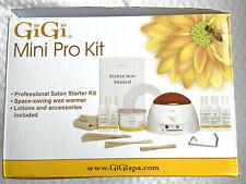 GiGi Mini Pro Hair Waxing Professional Salon Starter Kit Wax Warmer Lotions USED