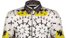 75% OFF White 100% Silk Long Sleeve Shirt IT54 UK44 2XL RRP £899 John Richmond