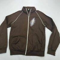 American Apparel Mens Jacket Brown Fleece Lined Grateful Dead 100% Cotton USA M
