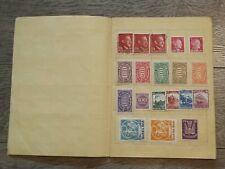 altes Album mit diversen Briefmarken - gestempelt & ungestempelt aus Nachlaß