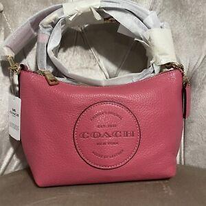 NWT Coach C2829 Dempsey Pebble Leather Handbag Small Bag Crossbody Purse Pink