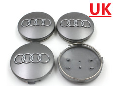 AUDI A3 A4 A6 A8 TT 4X NEW ALLOY WHEEL CENTRE HUB CAPS GREY 60MM 4B0601170 NEW