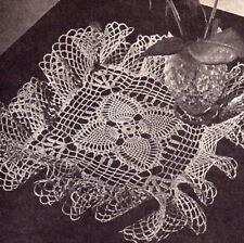VINTAGE Square Pineapple Doily/CROCHET PATTERN INSTRUCTIONS ONLY