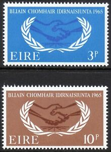 Ireland 1965 QEII International Co-operation Year set of 2 mint stamps MNH