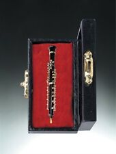 "3"" Oboe Miniature with Case Miniature Music Instruments Fairy Garden Dollhouse"
