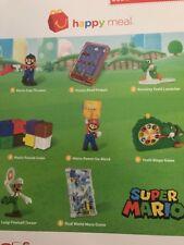 Nintendos Super Mario 2018 McDonalds Happy Meal Toys Complete USA Set of 8 *NIP