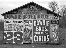 Barn Posters advertising 1936 circus Lynchburg South Carolina 8 x 10 Photograph