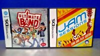 Jam Sessions + Ultimate Band -  Nintendo DS DS Lite 3DS 2DS Game Lot + Tested