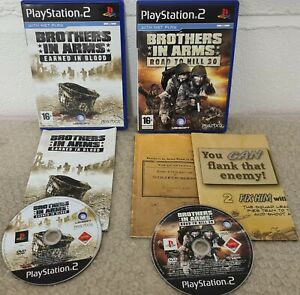Brothers in Arms Earned in Blood & Road to Hill 30 with Map (Sony PlayStation 2)
