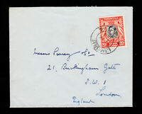 TANGANYIKA KENYA UGANDA (KUT) COVER 20¢ SCOTT #74 LIMURU CDS TO LONDON 1948