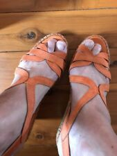 The Natural Shoe Company Orange Suede Wedge Size 41
