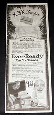"""1919 OLD MAGAZINE PRINT AD, AMERICAN """"EVER-READY RADIO BLADES"""", A WAR DISCOVERY!"""