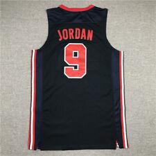 1992 USA Baloncesto Dream Team Michael Jordan #9 Camiseta Jersey Azul Marino
