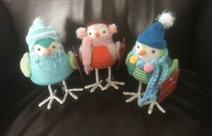 "Target 2018 ""Merry Lane"" Wondershop Featherly Friends Birds Set / 3 Brand NWT"