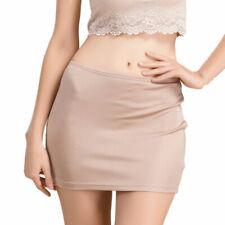 Pure Silk Knitted Underskirt Petticoat Half Slip Solid