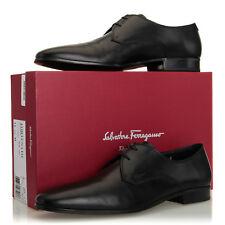Salvatore Ferragamo Fortunato Black Leather Plain Toe Derby Oxford - Size 11.5 D