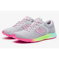 NEW BALANCE ARISHI JUNIOR RUNNING TRAINERS Grey Pink Girls Shoes Trainers