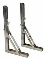 2 PCS of Bracket Chrome Steel Folding Shelf Shelf Table Folding Shelf 330 lbs