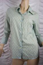 COUNTRY ROAD light green polka dot argyle print 100% cotton blouse size S EUC