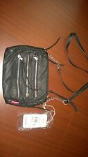 Union Bay Black HandBag Purse Bag Tote Cross Body Zippers Chain